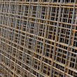 Metal reinforcing mesh — Stock Photo