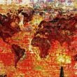 Foto Stock: Colorful world map