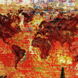 Foto de Stock  : Colorful world map
