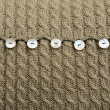 Stock Photo: Wool cushion detail