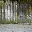 Stock Photo: Concrete wall with gravel