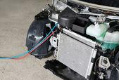 Car air conditioner repair — Stock Photo