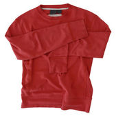 Used vintage red sweatshirt — Stock Photo