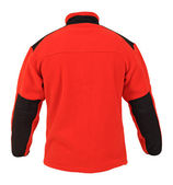 Back view of red fleece sport jacket isolated on white — Stock Photo