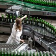 Beer production and bottling on Obolon corporation. Ukraine — Stock Photo