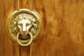 Lion Head Door Knocker, Ancient Knocker — Stock Photo