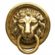 Lion Head Door Knocker, Ancient Knocker — Stock Photo #12734934