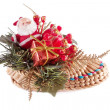 Royalty-Free Stock Photo: Santa Claus on Christmas in straw shoes ,isolated