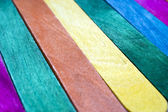 Colorful wooden fence — Stock Photo