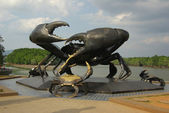 Statue of crabs in Krabi, Thailand — Stock Photo