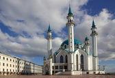 Qol szarif meczet w kazan kremlin, tatarstan, federacja rosyjska — Zdjęcie stockowe