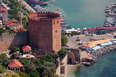Red tower in Alanya, Turkey — Stock Photo