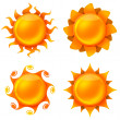 Four animated images of the sun — Stock Photo #17387723