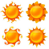 Four animated images of the sun — Stock Photo
