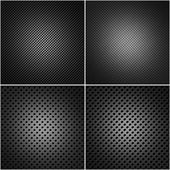 Four perforated metal plates — Stock Photo
