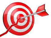 The target on schedule — Stock Photo