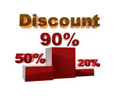 Pedestal of the discounts — Stock Photo