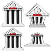 Bank on white background — Stock Photo