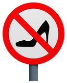 No high heels sign — Stock Photo