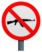 No AK-47 sign — Stock Photo