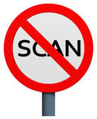 No scan sign — Stock Photo