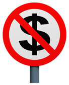 No dollar sign — Stock Photo
