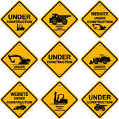 Under construction signs — Stock Photo