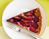 Delicious plum cake — Stock Photo