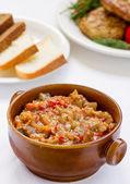 Eggplant caviar — Stock Photo