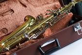 Vintage saxophone — Stock Photo