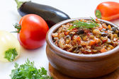 Eggplant caviar — Stock Photo