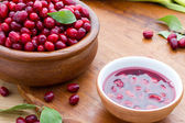 Jam with fruits of cornel — Stock Photo