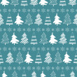 Christmas trees seamless pattern — Imagen vectorial