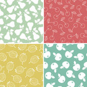 Fruits and Berry seamless pattern — Stock Vector