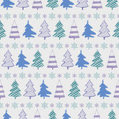 Christmas trees seamless pattern — Stock Vector
