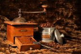 Coffee grinder and coffee beans — Foto Stock