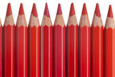 Red pencils isolated on white background — Stock Photo
