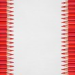 Red pencils on white background — Stock Photo #18407107