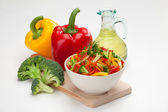 Colorful vegetable salad — Stockfoto