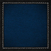 Blue leather background — Stock Photo