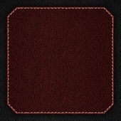 Red leather background with white seam — Stock Photo