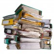 Stock Photo: Piles of file binder with documents