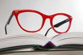 Kırmızı gözlük — Stok fotoğraf