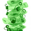 Stack of green plastic bottles — Stock Photo
