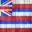 State flag of Hawaii — Stock Photo