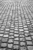 Cobblestone pavement or stone pavement texture — Stock Photo