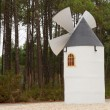 Small sized windmill built for decoration — Stock Photo
