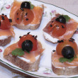 Ladybug canapes — Stock Photo