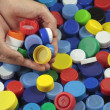 Recycling  plastic caps - Stock Photo