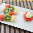 Skewers of fruits — Stock Photo